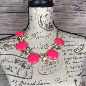 Banana Republic Hot Pink Gold Rope Necklace